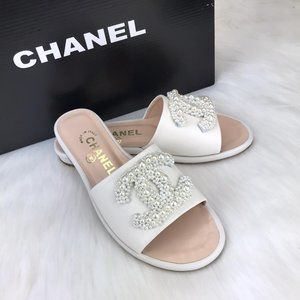 CHANEL Jewels Elegant Style Sandals